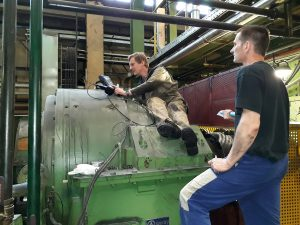 gearbox inspection with endoscopy